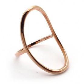 Δαχτυλιδι Οβαλ Minimal Roz Gold