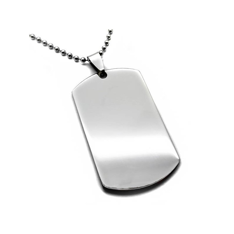 Πλακετα ανδρικη Στρατιωτικη Ταυτοτητα λαιμου Steel