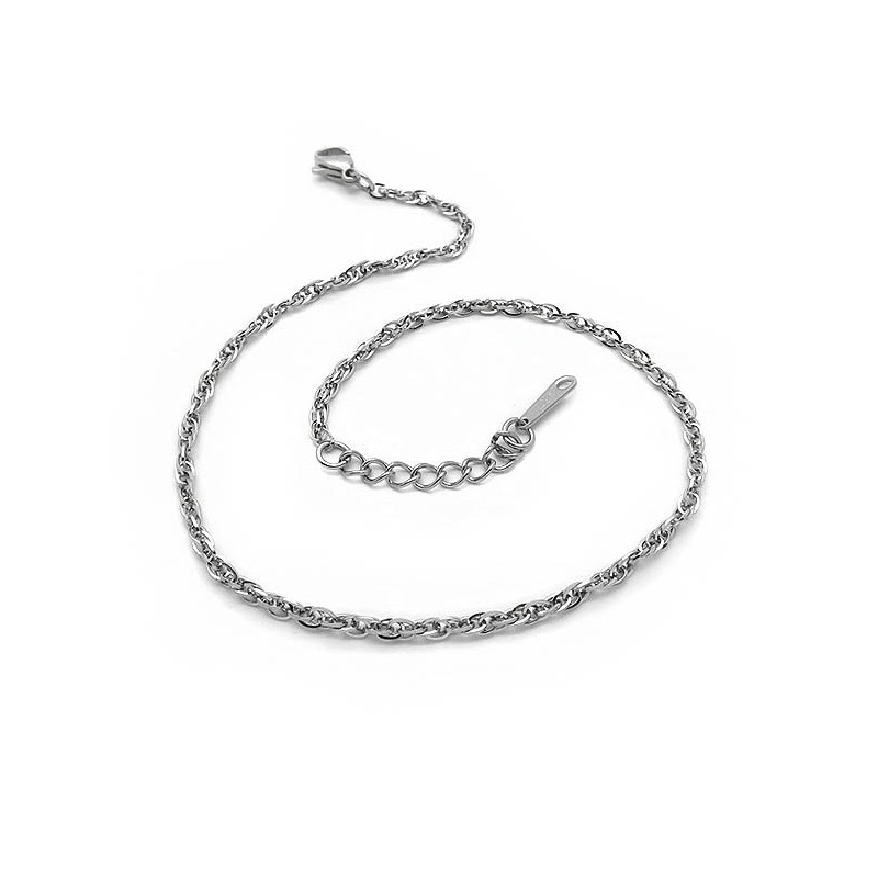 Αλυσιδα ποδιου αστραγαλου απλή στριφτή από ατσάλη φθηνή στο asimenio b45a219a0b5