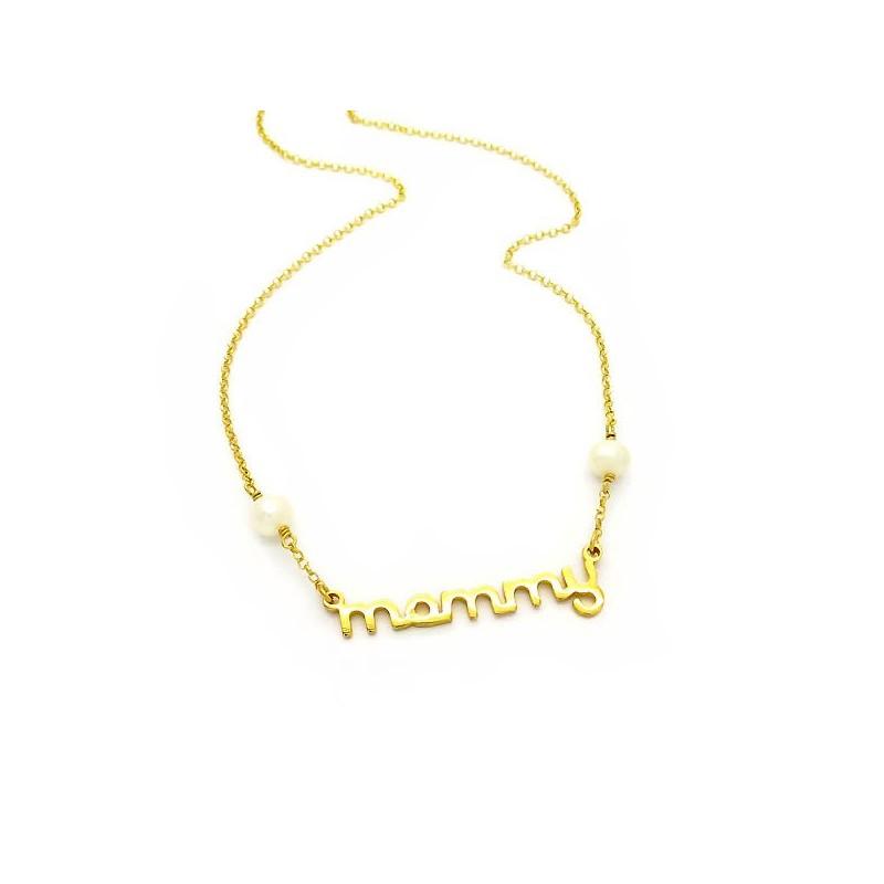 Κολιε Mommy χρυσό Ασήμι 925