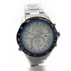 Ανδρικά ρολόγια με ημερομηνία και ασημί μπρασελέ