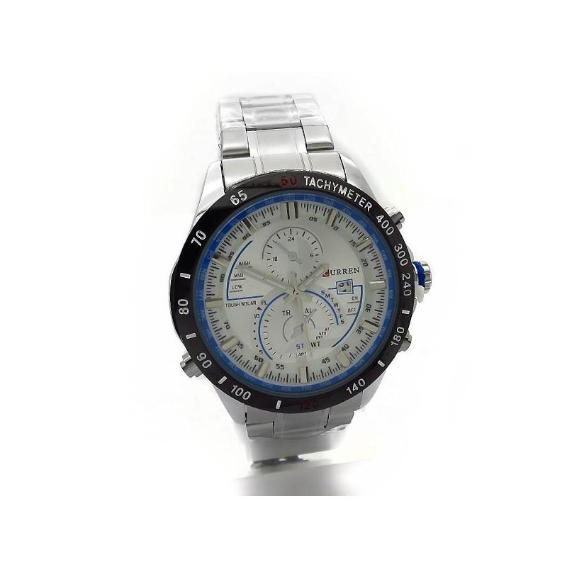 Ανδρικά ρολόγια με ημερομηνία και μαύρο δερμάτινο λουράκι 703cc6fec9c