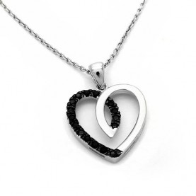 Sterling silver heart charm with chain