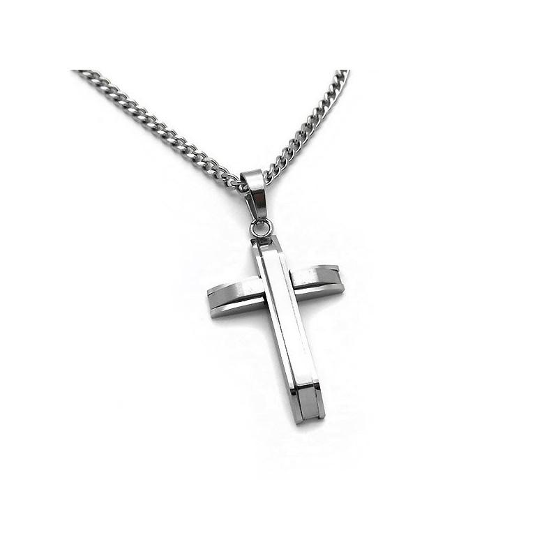 Υπέροχος απλός ανδρικός σταυρός από ατσάλι