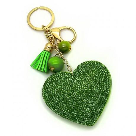 Μπρελοκ με Καρδιά Πράσινη Λαχανί