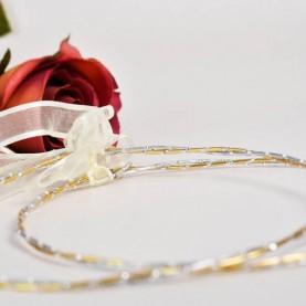 Στεφανα για γαμο επάργυρα δίχρωμα