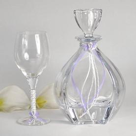 Ποτήρι Καράφα Γάμου Κρυστάλλινα σχέδιο Vendi