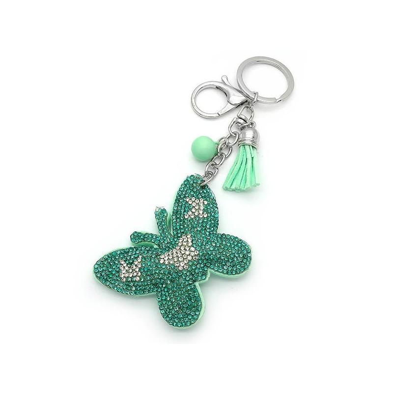 Μπρελοκ με πεταλούδα πράσινη