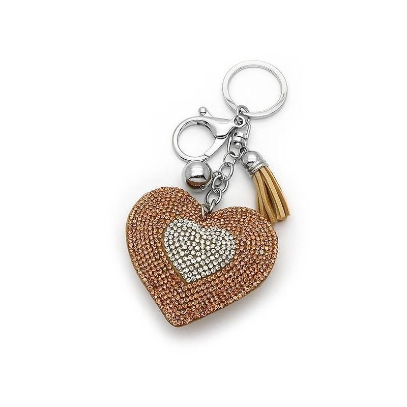 Μπρελοκ κλειδιών με Καρδιά σαμπανί