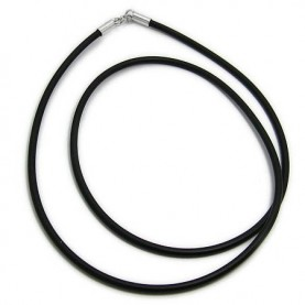 Men's Black Rubber neck cord 3 Pieces