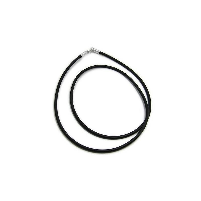 Men's Black Rubber neck cord 3 Pieces