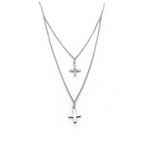 Λεπτός Κομψός σταυρός με πέτρες