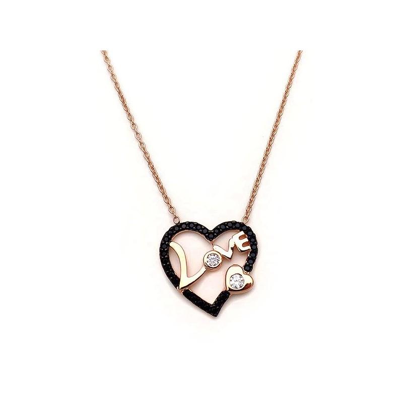 Κολιέ με καρδιές και αλυσίδα ασημένιο οικονομικό στο asimenio.gr 9d67b2ee2ec
