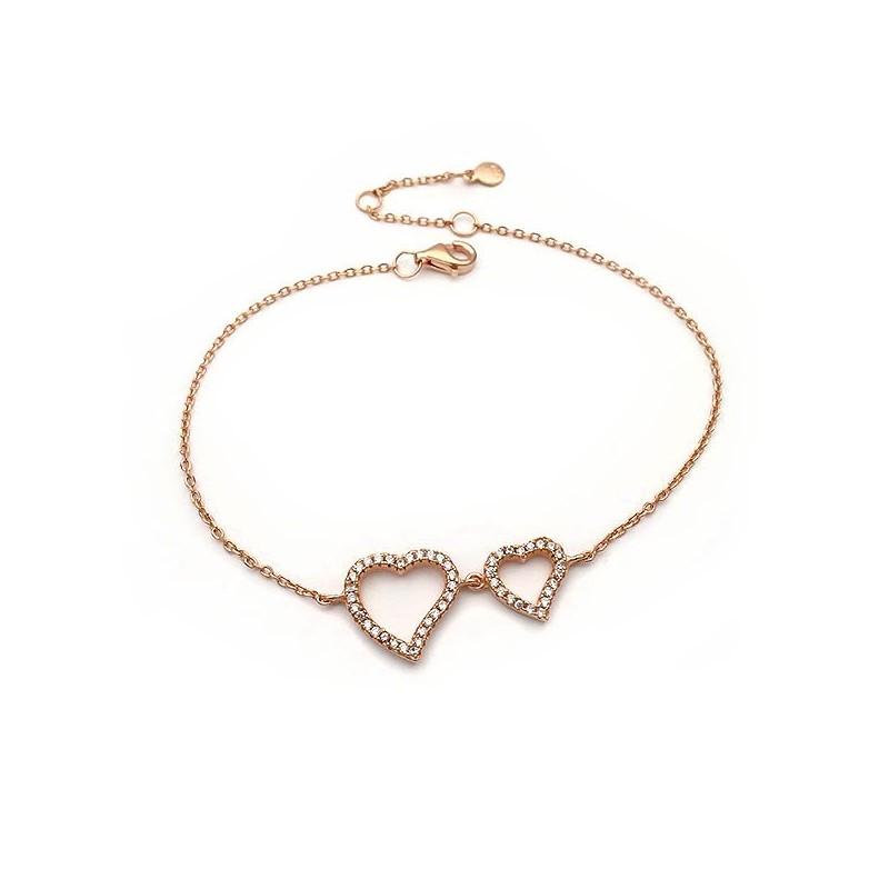 Βραχιολι με καρδιά και μαργαριταρι περλα ασημενιο απιπλατινωμενο aabff4f292c