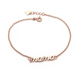Mama Bracelet from Silver 925 Pink Gold Plated