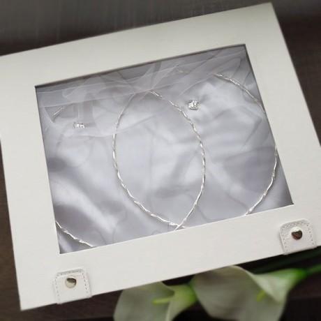 Στέφανα γάμου επάργυρα ασημί με Crystal fabric Swarovski