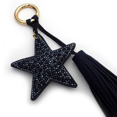 Μπρελοκ για κλειδιά γυναικείο αστέρι μπλε μαύρο