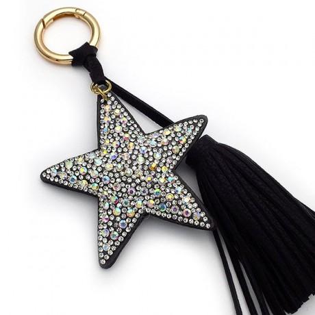 Μπρελοκ για κλειδιά γυναικείο αστέρι μαύρο