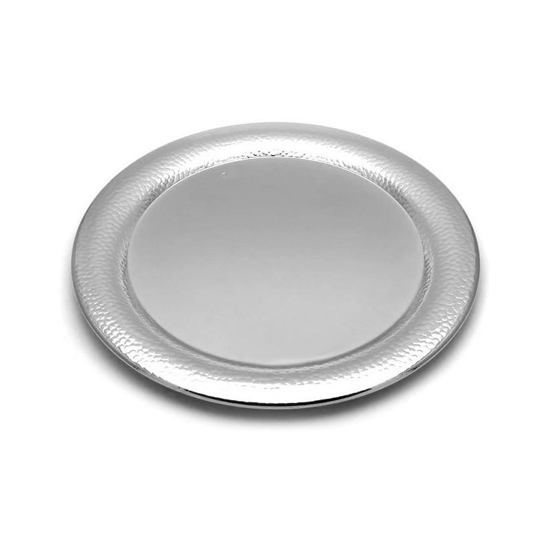 Wedding tray inox silver 34cm