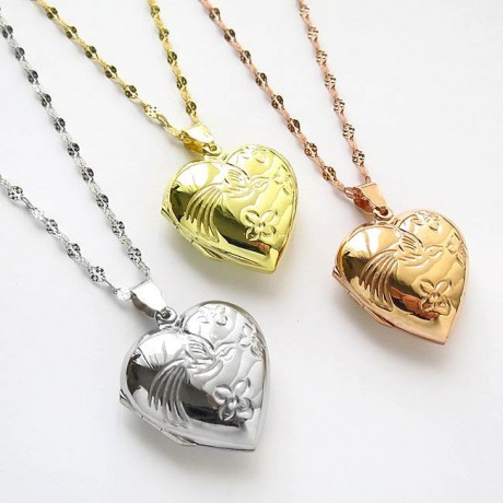 Heart locket from sterling silver gold plated