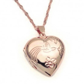 Heart locket from sterling silver rose gold plated
