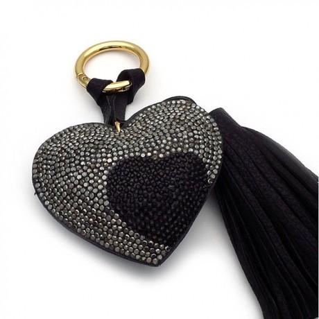 Μπρελόκ για κλειδιά γυναικείο καρδιά μαύρη