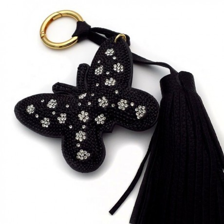 Μπρελοκ για κλειδιά γυναικείο με πεταλούδα μαύρη
