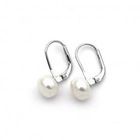 Σκουλαρίκια Μαργαριτάρια ασημένια 8mm