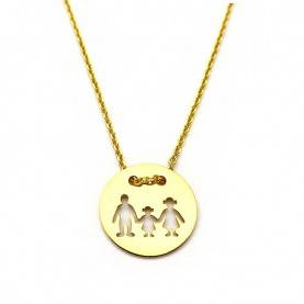 Family necklace with one girl