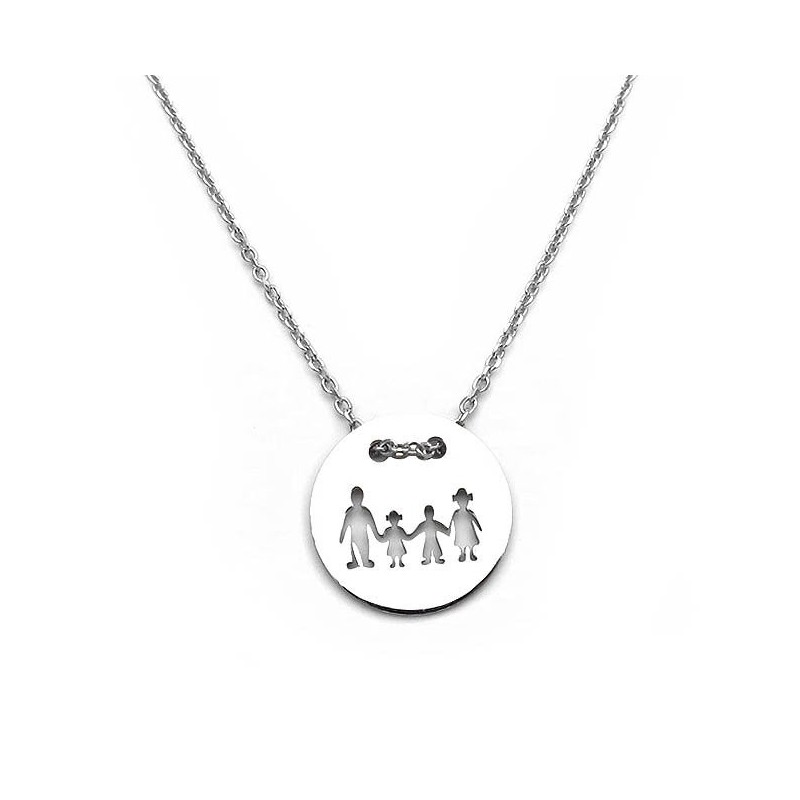 Family necklace with one girl and one boy