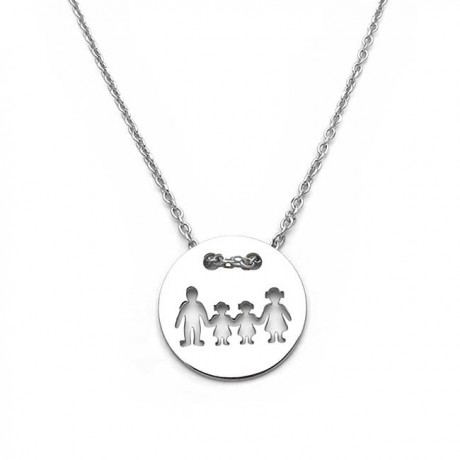 Family necklace with two girls