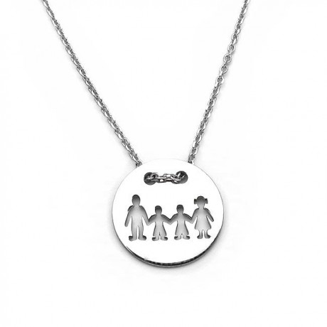 Family necklace with two boys