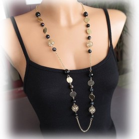 Necklace long in black colors