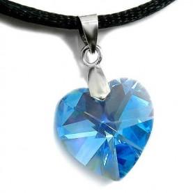 Καρδια γαλάζια Swarovski Aquamarine