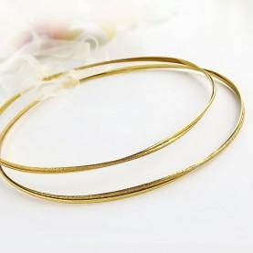 Στεφανα Γαμου Επάργυρα Χρυσά Ματ-Γυαλιστερό