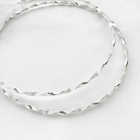 Στεφανα Γαμου Επάργυρα με Crystal fabric της Swarovski elements