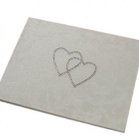 Βιβλιο ευχων διπλές καρδιές από Swarovki
