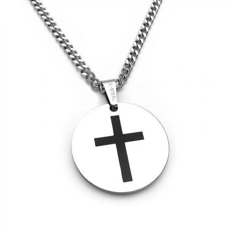 Cross pendant with inscription on the back SA126