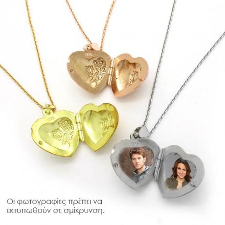 Καρδιά για φωτογραφίες γυαλιστερή Rose Gold