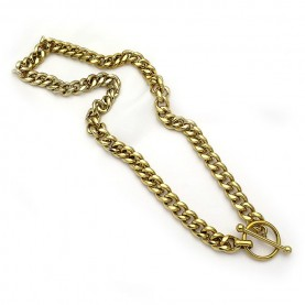 Κολιέ αλυσίδα χρυσή από ατσάλι