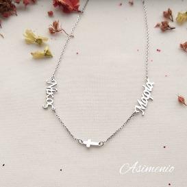 Two Names Necklace!  Θα τα βρεις στο ASIMENIO.GR  . Δωρεάν Μεταφορικά σε όλη την Ελλάδα.  Τηλέφωνο 2310 531382 . ~~~~~~~~~~~~~~~~~~~~~~~ #asimenio #asimenio_gr #namenecklace #instajewelry #cross #Name #thessaloniki #κολιέμεόνομα #ονοματα #ονομα #κολιέ #κολιέχειροποίητο #δωρεανμεταφορικα #δωρο #δωρα #ασημενιο #ασημένιο #νικος #μαρία #κρεμαστα #θεσσαλονίκη #κοσμήματα #αλυσίδα  #onoma #personalized #onomata #nikos #Maria
